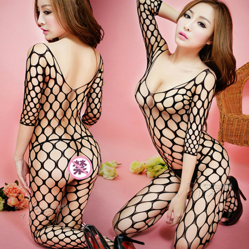 Mesh Bodysuits Spandex Hollow Out Fishnet Stockings Full Body Tights Women Slips Wholesale Sexy Lingerie Hot Rompers