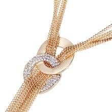 17KM Long Tassel Multilayer Women Necklace
