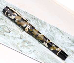 Image 2 - Moonman M600S Celluloid Brown Fountain Pen MOONMAN Iridium Fine Nib 0.5mm Excellent Fashion Office Writing Gift Pen for Business