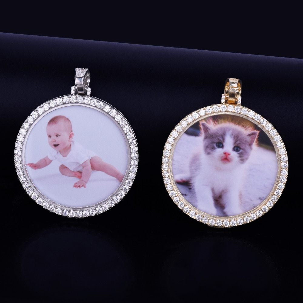 Custom-Made-Photo-Medallions-Necklace-Pendant-With-4mm-Tennis-Chain-Gold-Silver-Color-Cubic-Zircon-Men (2)