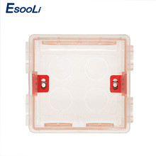 Esooli 86mm*83mm*50mm Adjustable Transparent Mounting Box Internal Cassette For 86 Type WIFI Touch Switch and USB Socket