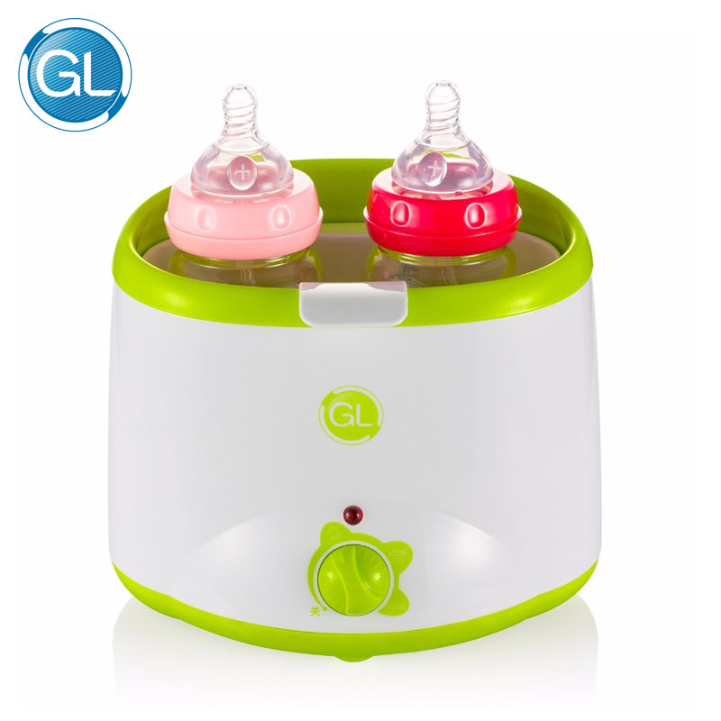 GL Dual Bottle Warmer Sterilizer Mechanical Operate Milk Heater Electric Baby Milk Food Warmer Automatic Double Bottle Warmer constant temperature heat insulation double milk bottle sterilizer multifunction baby bottle warmer