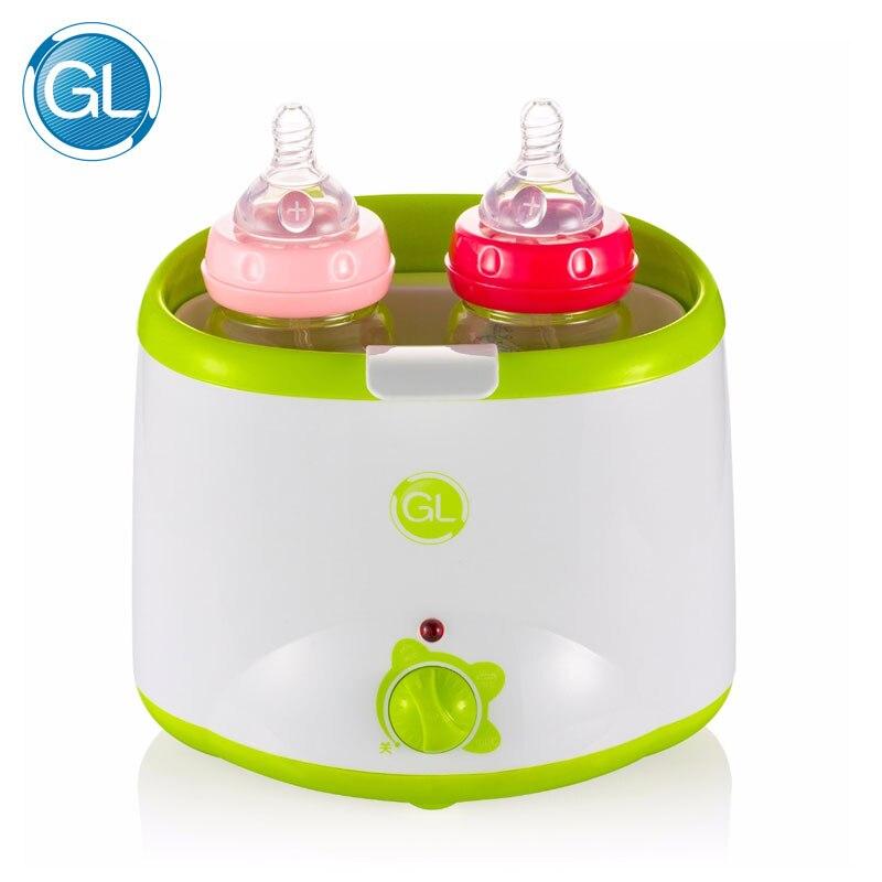 GL Dual Bottle Warmer Sterilizer Mechanical Operate Milk Heater Electric Baby Milk Food Warmer Automatic Double Bottle Warmer цена и фото