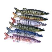 Купить с кэшбэком 8 Segment Swim bait Sea fishing lure accessories hook Fishing Wobbler Lifelike Baits Crank bait Hard Bait Slow Artificial lures