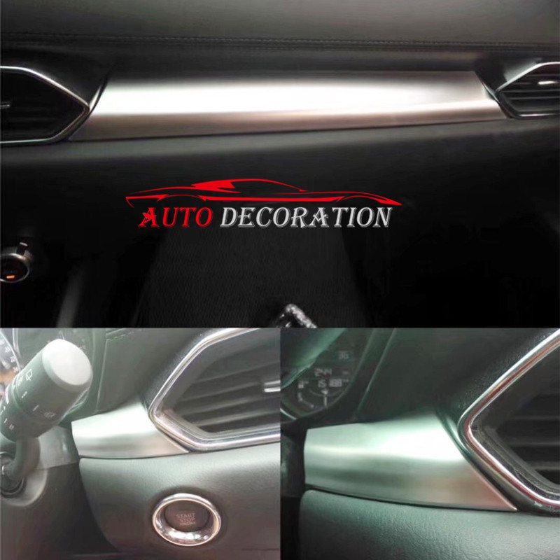 For Left-hand Drive! Car styling Interior Matte Center Console Decoration Cover 3* For Mazda CX-5 CX5 2nd Gen 2017 2018 for mazda cx 5 cx5 2017 2018 kf 2nd gen car co pilot copilot stroage glove box handle frame cover stickers car styling