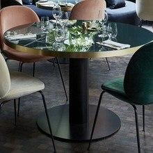 Современный Дизайн Роскошный Золотой цвет Лофт скандинавский обеденный круглый стол мягкий чехол мягкая классическая Обеденная Мебель Стул 1 шт
