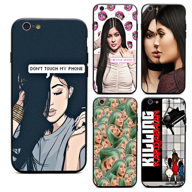 separation shoes e83b0 ef605 US $1.64 34% OFF|kendall and kylie jenner phone cases TPU+PC Black covers  for iPhone X 6 7 8 plus 5 5s 6s se for Apple X best diy case-in  Half-wrapped ...