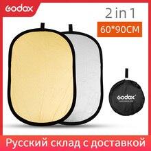 Godox refletor de fotografia dobrável, 2 em 1, 60x90cm, luz portátil, oval, para estúdio 60x90cm