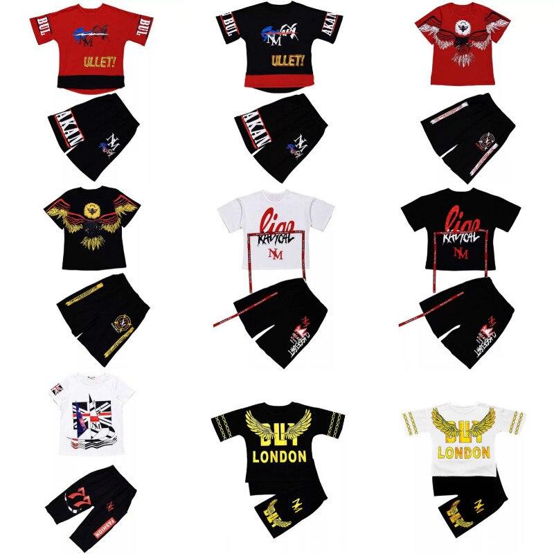 Kids Sport Suits Boys Hip Hop Dance Sets New Fashion Children Clothing Set 3-16Yrs Boys Teens Hoodie Shirt Tops Pants CA4221