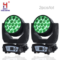 Lyre led 19x15w beam moving head light zoom led rgbw 4in1 wash light Dj Stage Light(2pcs/lot)