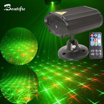 92751dfe68a Mini Bola de discoteca luz música Color láser proyector luces de fiesta  Lumiere efecto estroboscópico 8