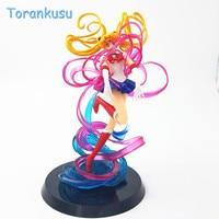 Anime Sailor Moon Action figure Tsukino Usagi Figuarts Petit Chara Pretty Guardian Sailor Moon Crystal Power brinquedo Toy 25cm