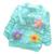 Primavera verão de algodão do bebê meninas botão t longo da luva do revestimento do revestimento flores applique dot crianças clothing frete grátis ao ar livre