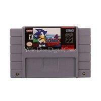 Nintendo SFC SNES Video Game Cartridge Console Card Sonic 4 The Hedgehog USA English Language Version