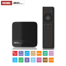 Mecool M8S Pro L ATV S912 TV Box Octa Core 3GB 32GB 4K Media Player Android TV Set Top Box with IPTV M3U Portugal France Spain все цены