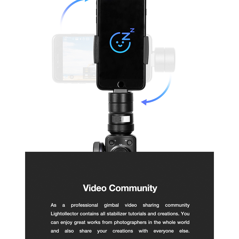 ZHIYUN Official Smooth 4 3-Axis Handheld Smartphone Gimbal Stabilizer VS Smooth Q Model for iPhone X 8Plus 8 7 6S Samsung S9S8S7 13