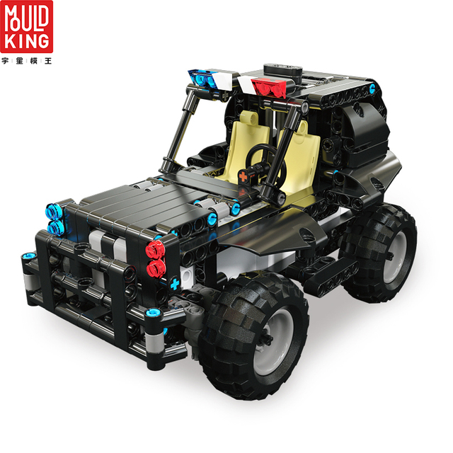 Mould king 13005 city swat team police rc car truck remote control building blocks technic car lepin™ land