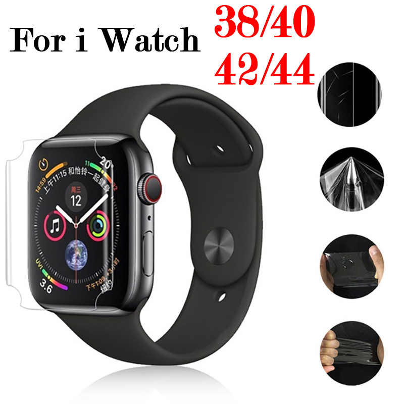 Protective Film On For i Watch 4 3 2 1 Original Full Coverage 38mm 42mm 40mm 44mm Soft Screen Protector Protect Cover(Not Glass)