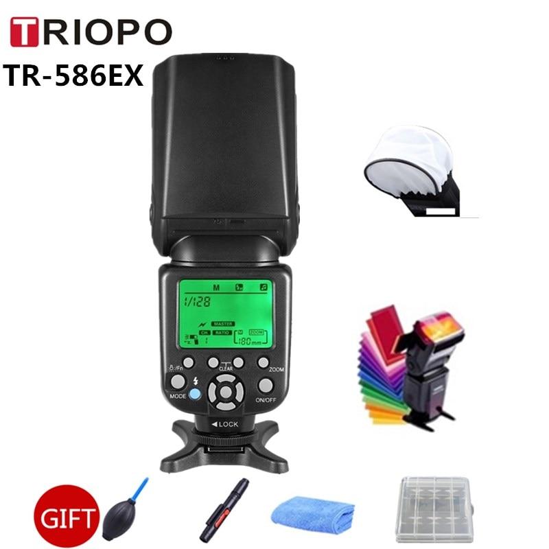 TRIOPO TR-586EX Wireless Flash Mode TTL Speedlite Speedlight All For Nikon D750 D80 D600 D3300 D3200 D7200 D7000 For Canon 450d