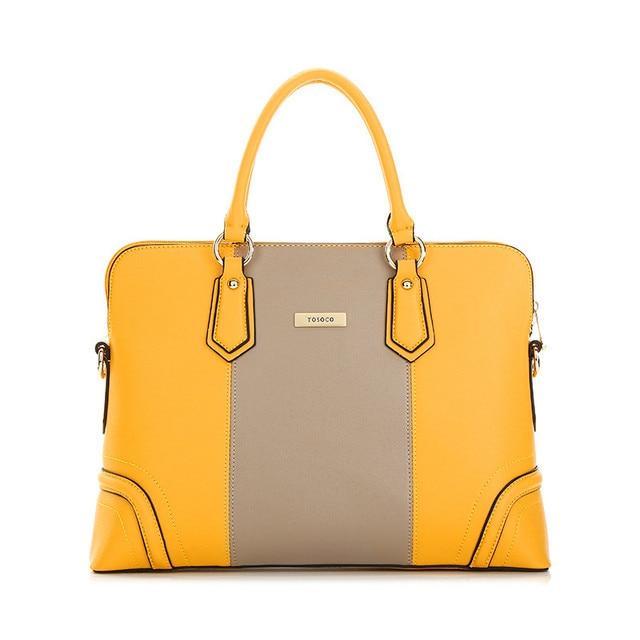 aed5efd407b Bloque de color femenino de negocios OL trabajo bolso bolsas para mujeres  maletín bolso de la