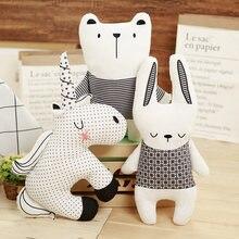 Nordic Toys Kawaii Stuffed Plush Pillow Bear Rabbit Unicorn Cushion Cute Animals Girl Stuffing Animal Shape