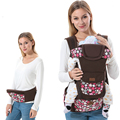 Floral Cotton Ergonomic Baby Carrier Adjustable Baby Sling 5 Carry Ways Multifunctional Kangaroo Baby Applicable 3 To 36 Months