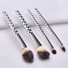 makeup brushes set professional 4 Pcs Makeup Brushes With Honeycomb Silver Handle Eye Makeup Brush Set brochas maquillaje ro#ZC(China)