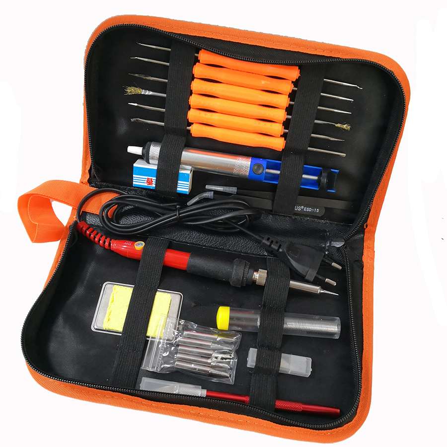 Image 4 - 60W Electric soldering iron  temperature adjustable 220V 110V Welding Solder iron rework station soldering iron accessories-in Electric Soldering Irons from Tools