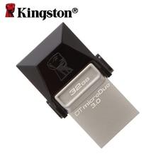 Kingtson memory card usb flash drive 32gb memoria mini usb key pen-drive microDuo OTG