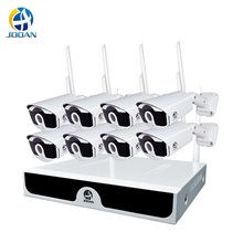 камера видеонаблюдения 1080P Беспроводная система видеонаблюдения 8ch NVR комплект жесткий диск Открытый ИК ночного видения H.265 2MP IP Wi fi камеры комплект 8CH домашняя система безопасности
