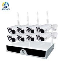 H.265 3MP IP واي فاي كاميرات مجموعة 8ch نظام الحماية المنزلي 3MP اللاسلكية نظام الدائرة التلفزيونية المغلقة 8CH طقم NVR قرص صلب في الهواء الطلق الأشعة تحت الحمراء للرؤية الليلية