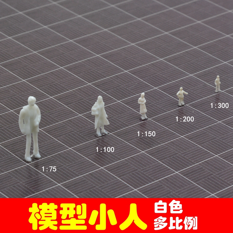 7pcs/Lot DIY Model Material Scene Model Scale Figure Peple Model 1:75/1:100/1:150/1:200/1:300 Sand Table Model