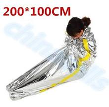 50pcs first aid Outdoor life-saving deal Portable Waterproof Reusable Emergency Rescue Foil Camping Survival Sleeping Bag