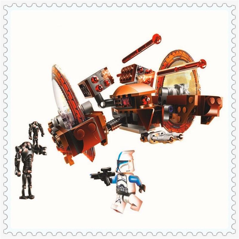 163Pcs Star Wars Clones Hailfire Droid Exclusive Model Building Block Toys BELA 10370 Figure Gift For Children Compatible Legoe lepin 22001 pirate ship imperial warships model building block briks toys gift 1717pcs compatible legoed 10210
