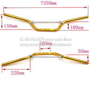 """Image 2 - Normal Quality Aluminum 22mm Handlebar for dirt pit bike 7/8"""" inch Handle bar motocross off road motorcycle"""