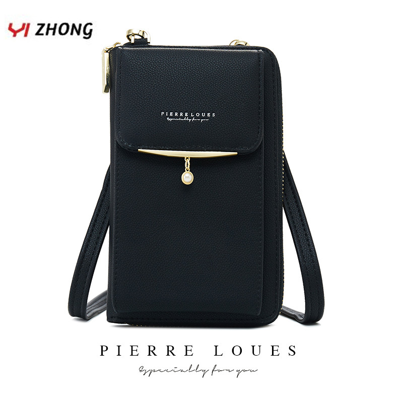 YIZHONG Multi-function Shoulder Bags For Women Handbags And Purses Leather Card Cell Phone Pocket Ladies Messenger Bags