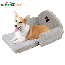 Detachable Dog bed Orthopedic Plush Suede Sofa-Style Couch Pet Bed for Dogs Cats Gray Medium Breathable Dog Bed Sofas 2018 new creative folding lazy sofas high quality sofa bed multifunctional couch for single double men