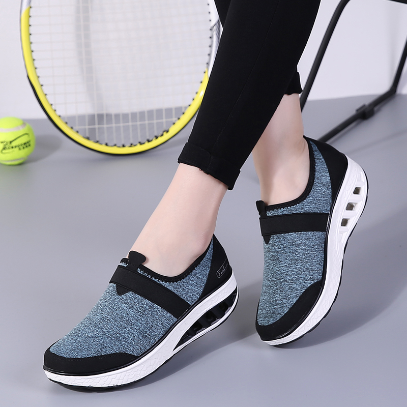 Mwy Frauen Atmungsaktivem Mesh Casual Schuhe Höhe Erhöhte Schuhe Im Freien Zu Fuß Turnschuhe Zapatillas De Mujer Lace Up Frauen Schuhe Frauen Schuhe Schuhe