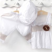 5 Pack LCLL 3pcs Baby Girl Kid Ruffle Top Pants Hat Set Outfit Clothes Costume TYA9