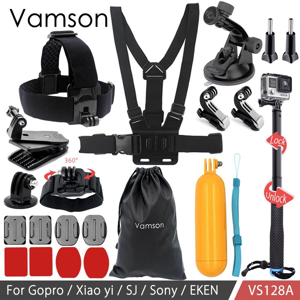 Vamson Accessories for Gopro Hero 6 5 4 Kit Head Vamson Bag Floaty Bobber Adapter Monopod for Xiaomi for Yi for Eken VS128