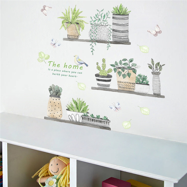 Garden plant  wall stickers 60×65 cm