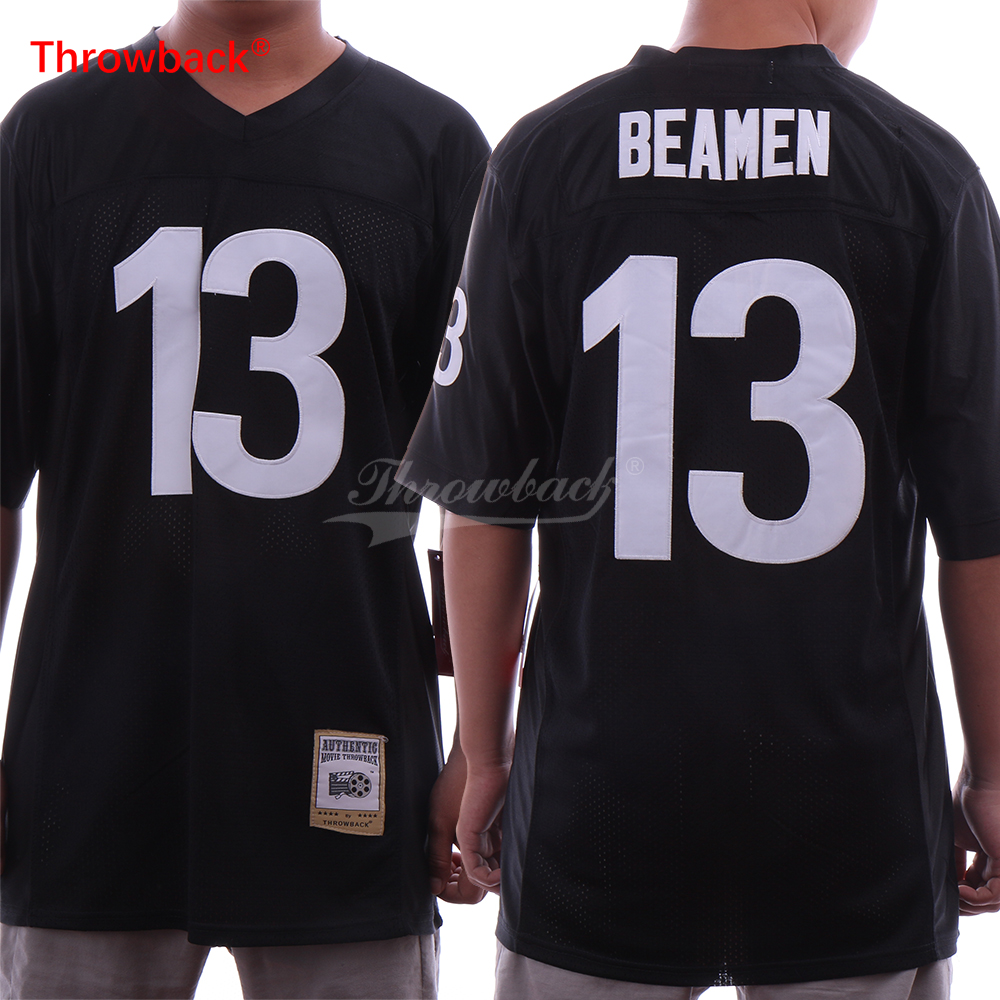 Throwback Men's #13 Willie Beame Football Jerseys ANY GIVEN SUNDAY Movie Jersey Black Stitched Shirts S-3XL Cheap