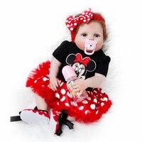 Newest Girl Toys 55cm Soft Silicone Reborn Dolls Baby Realistic Doll Reborn Vinyl Boneca Reborn Doll For Girls