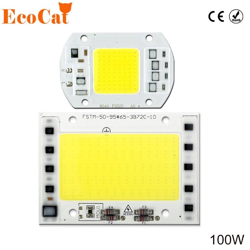 [ECO CAT] COB led chip 20W 30W 50W 100W Integrated 220V 240V AC Matrix LED Spotlight DIY Projector Outdoor Street Flood Light