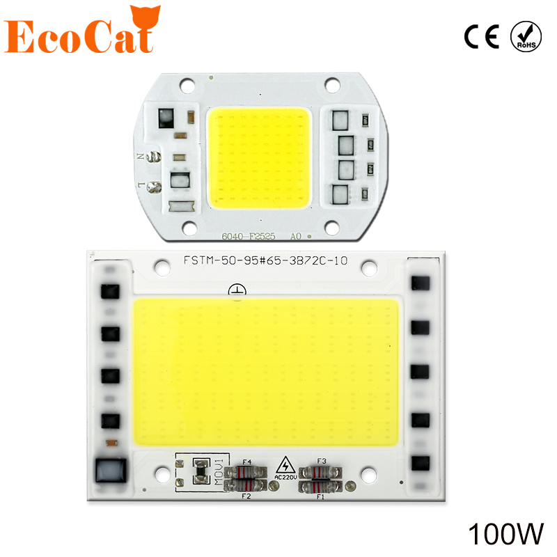 2PCS COB led chip 20W 30W 50W 100W Integrated 220V 240V AC Matrix LED Spotlight DIY Projector Outdoor Street Flood Light