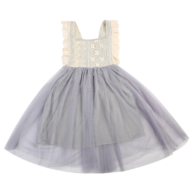 Toddler Kids Baby Girls Floral Lace Ruffles Sleeveless Mini Tulle Dress Bowknot Party Wedding Ball Gown Tutu Dress Sundress 2-7Y baby girls infant wedding party bowknot sleeveless ruffled vest dress sundress
