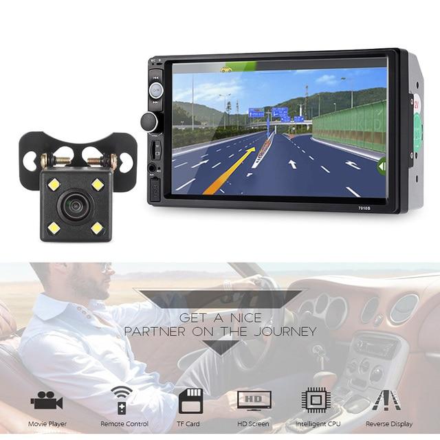 Universal 7010B Mirror Link Bluetooth Car MP5 Player with 720P Camera 7 inch Car Multimedia Players FM Auto Radio Steering Wheel