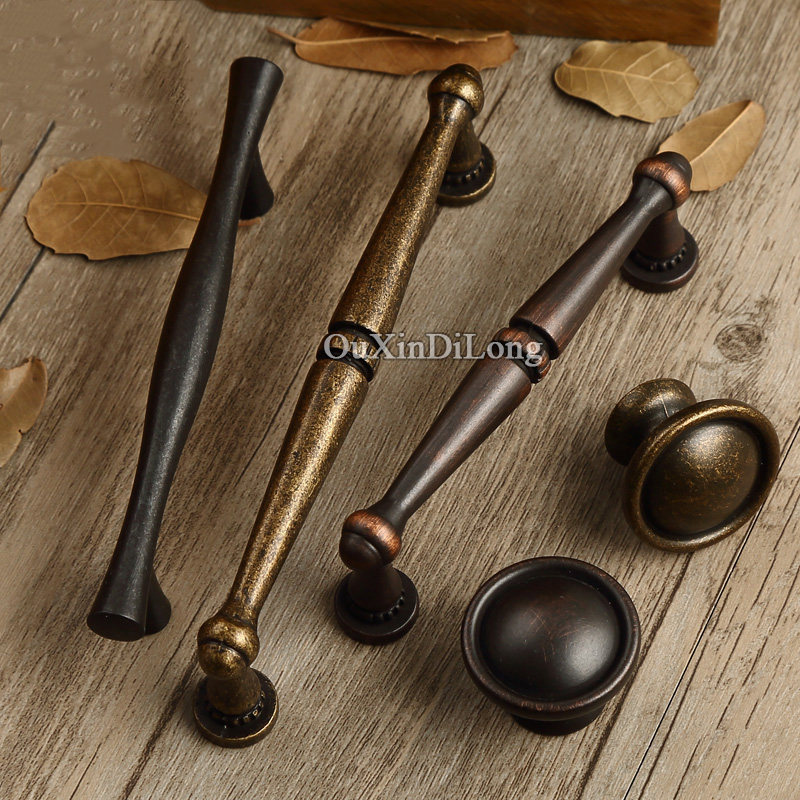 Top Designed 10PCS European Antique Kitchen Door Furniture Handles Cupboard Wardrobe Drawer Dresser Cabinet Pulls Handles&Knobs