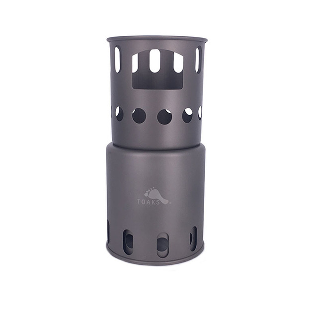 TOAKS STV-11 Titanium Stove Backpacking Wood Burning Stove Camping Hiking Titanium Stove Only 225g