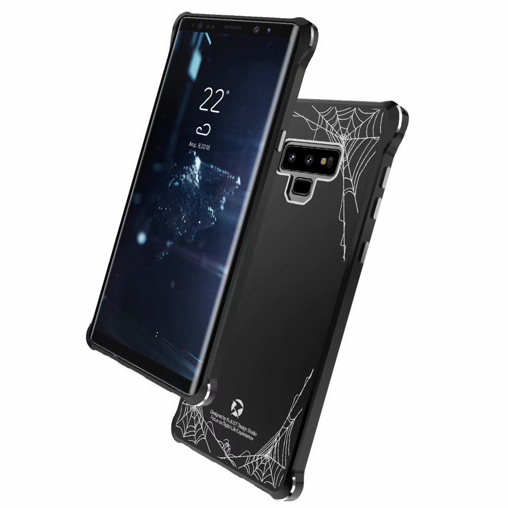 Fashion Cell Phone Cases Note9 Glossy Spider For Samsung Galaxy Note 9 Hard Cover Acrylic Back Board Shockproof Slim Thin Cool in Fitted Cases from Cellphones Telecommunications